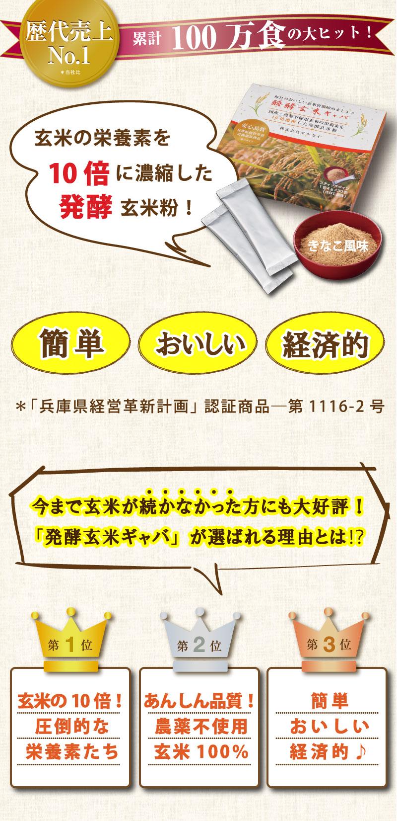玄米の栄養素を10倍に濃縮した発酵玄米粉